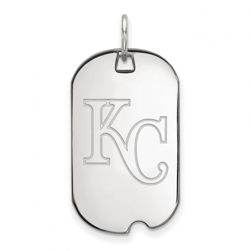 Kansas City Royals Sterling Silver Small Dog Tag
