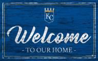 Kansas City Royals Team Color Welcome Sign
