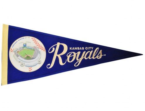 Kansas City Royals Vintage Ballpark Traditions Pennant