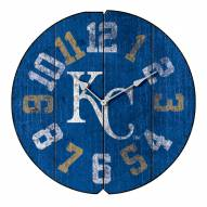 Kansas City Royals Vintage Round Clock