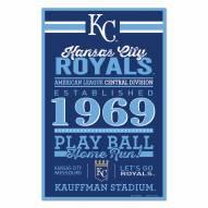 Kansas City Royals Established Wood Sign