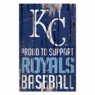 Kansas City Royals Proud to Support Wood Sign