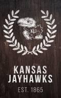 "Kansas Jayhawks 11"" x 19"" Laurel Wreath Sign"