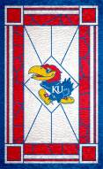 "Kansas Jayhawks 11"" x 19"" Stained Glass Sign"