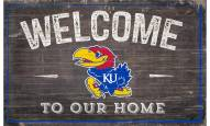 """Kansas Jayhawks 11"""" x 19"""" Welcome to Our Home Sign"""