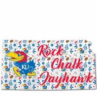 "Kansas Jayhawks 12"" Floral State Sign"