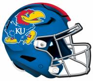 "Kansas Jayhawks 12"" Helmet Sign"