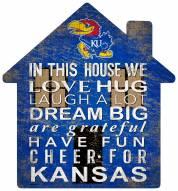 """Kansas Jayhawks 12"""" House Sign"""