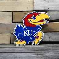 "Kansas Jayhawks 12"" Steel Logo Sign"