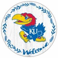 "Kansas Jayhawks 12"" Welcome Circle Sign"