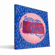 "Kansas Jayhawks 12"" x 12"" Born a Fan Canvas Print"
