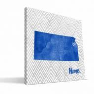 "Kansas Jayhawks 12"" x 12"" Home Canvas Print"