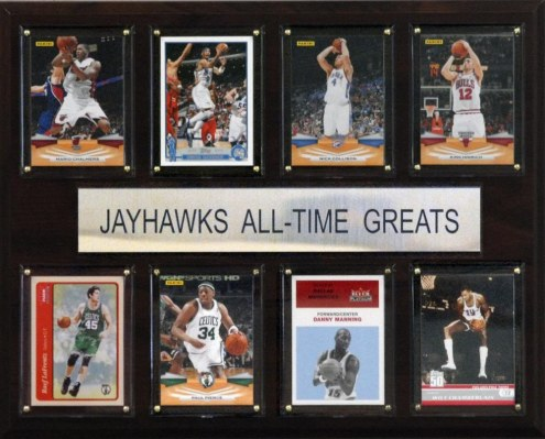 "Kansas Jayhawks 12"" x 15"" Basketball All-Time Greats Plaque"