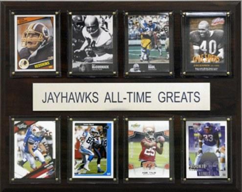 "Kansas Jayhawks 12"" x 15"" Football All-Time Greats Plaque"