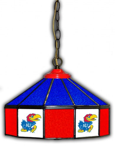 "Kansas Jayhawks 14"" Glass Pub Lamp"