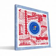"""Kansas Jayhawks 16"""" x 16"""" Pictograph Canvas Print"""