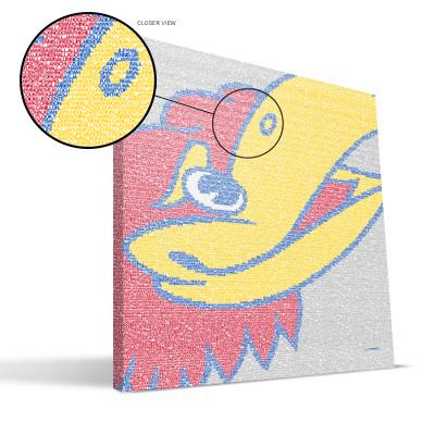 "Kansas Jayhawks 16"" x 16"" Typo Canvas Print"