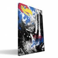 "Kansas Jayhawks 16"" x 24"" Spirit Canvas Print"