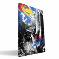 "Kansas Jayhawks 16"" x 24"" Spirit Canvas Print"