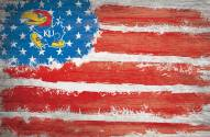 "Kansas Jayhawks 17"" x 26"" Flag Sign"