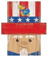 "Kansas Jayhawks 19"" x 16"" Patriotic Head"