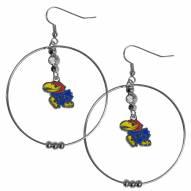 """Kansas Jayhawks 2"""" Hoop Earrings"""