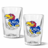 Kansas Jayhawks 2 oz. Prism Shot Glass Set