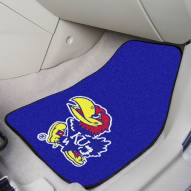 Kansas Jayhawks 2-Piece Carpet Car Mats