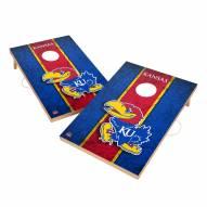 Kansas Jayhawks 2' x 3' Vintage Wood Cornhole Game