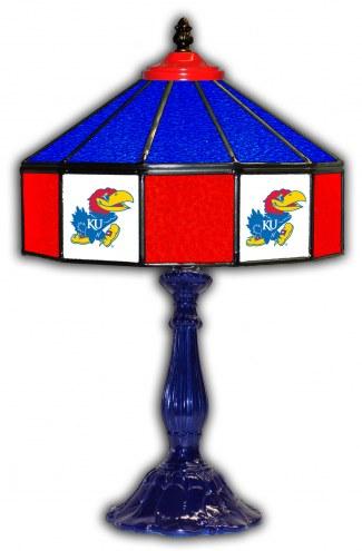 "Kansas Jayhawks 21"" Glass Table Lamp"