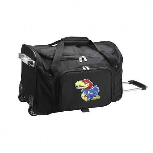 "Kansas Jayhawks 22"" Rolling Duffle Bag"