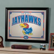 """Kansas Jayhawks 23"""" x 18"""" Mirror"""