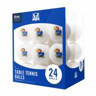 Kansas Jayhawks 24 Count Ping Pong Balls