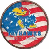 "Kansas Jayhawks 24"" Flag Barrel Top"