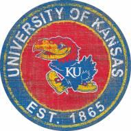 "Kansas Jayhawks 24"" Heritage Logo Round Sign"