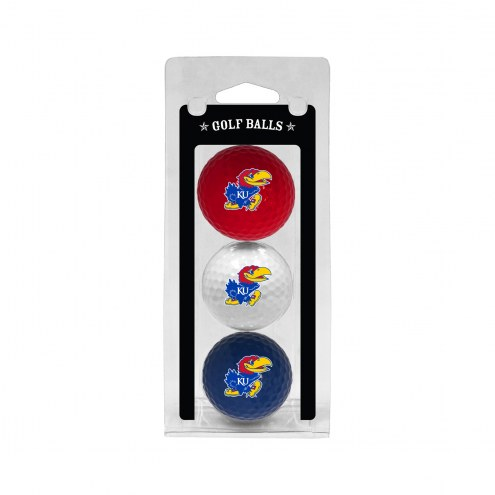 Kansas Jayhawks 3 Pack of Golf Balls