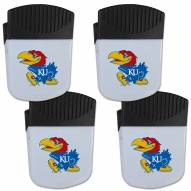 Kansas Jayhawks 4 Pack Chip Clip Magnet with Bottle Opener