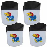 Kansas Jayhawks 4 Pack Chip Clip Magnet with Bottle Opener