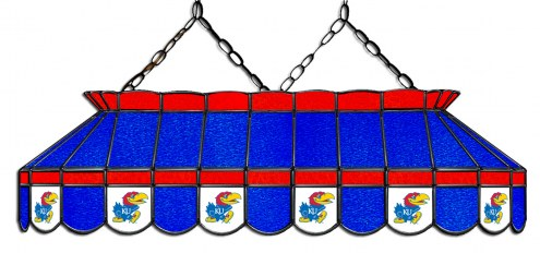 "Kansas Jayhawks 40"" Stained Glass Pool Table Light"