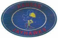 """Kansas Jayhawks 46"""" Heritage Logo Oval Sign"""