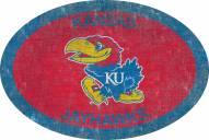 "Kansas Jayhawks 46"" Team Color Oval Sign"