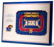 Kansas Jayhawks 5-Layer StadiumViews 3D Wall Art
