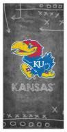 "Kansas Jayhawks 6"" x 12"" Chalk Playbook Sign"