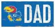 "Kansas Jayhawks 6"" x 12"" Dad Sign"