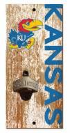 "Kansas Jayhawks 6"" x 12"" Distressed Bottle Opener"