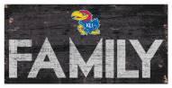 "Kansas Jayhawks 6"" x 12"" Family Sign"