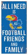 "Kansas Jayhawks 6"" x 12"" Friends & Family Sign"