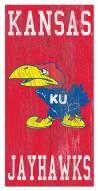 "Kansas Jayhawks 6"" x 12"" Heritage Logo Sign"