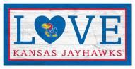 """Kansas Jayhawks 6"""" x 12"""" Love Sign"""