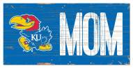 "Kansas Jayhawks 6"" x 12"" Mom Sign"